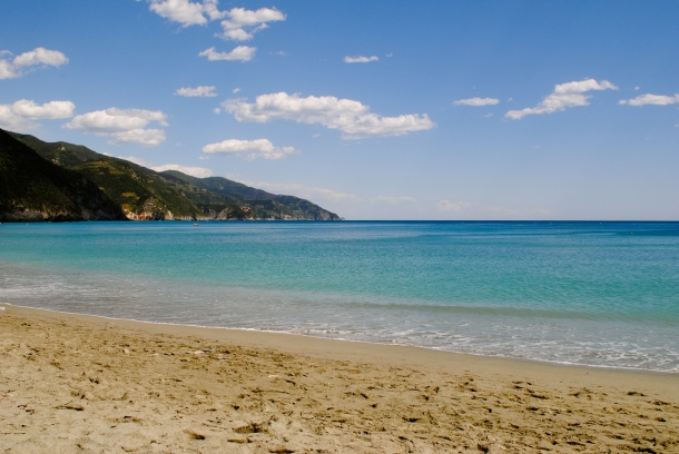 The beach at Monterosso
