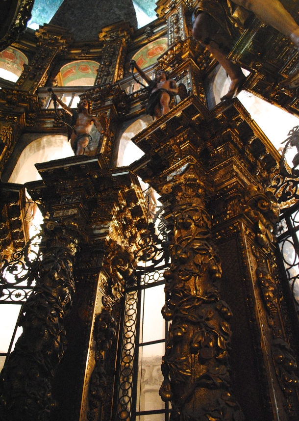 Inside the Cathedral of Santiago