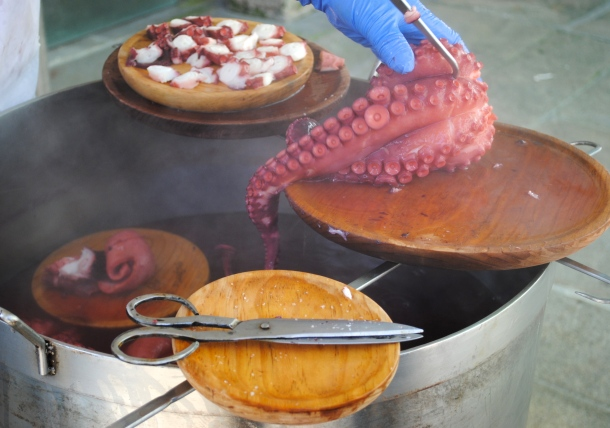 Pulpo Gallego at the market